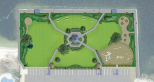 A rendering of plans for the rebuilt Bayside Park in Brick. (Photo: Brick Township)