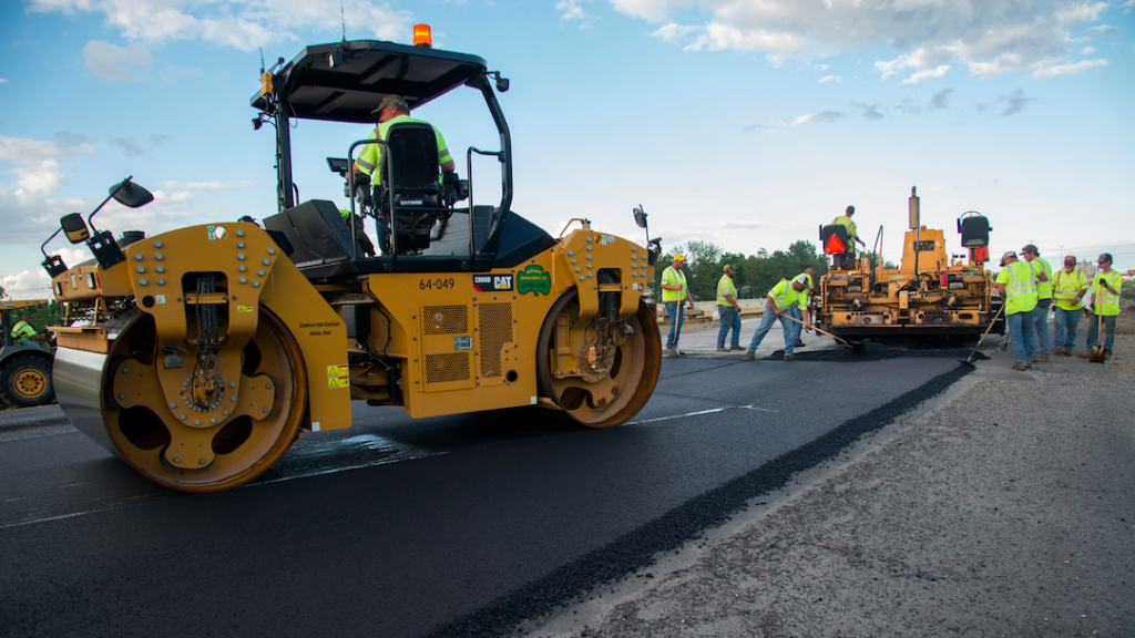 Road paving/repaving project. (Credit: NDDOT/ Flickr)