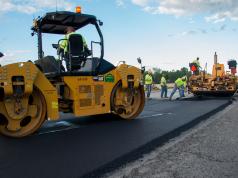 Road paving/repaving project. (Credit: NDDOT/ Flickr)