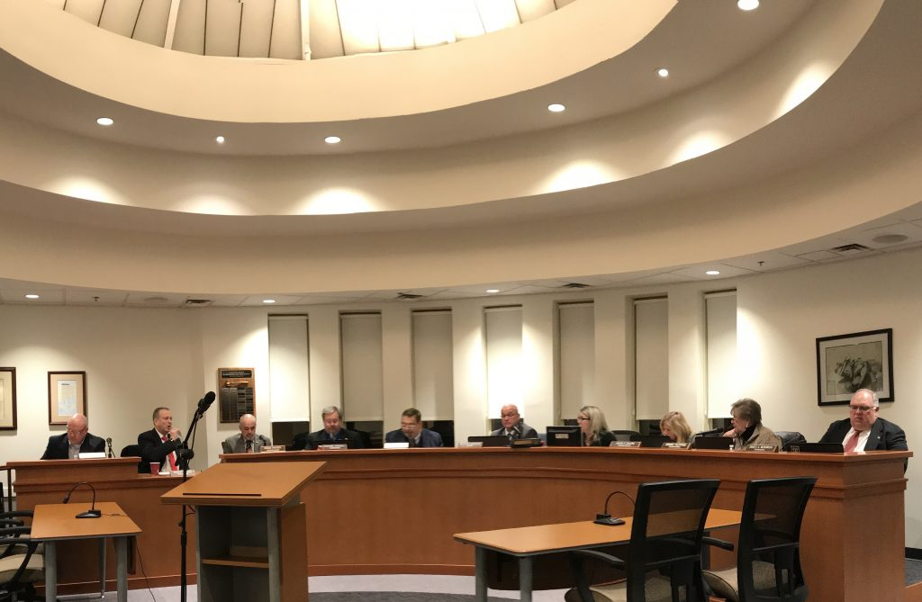 Lavallette borough council members in session, Jan. 2020. (Photo: Daniel Nee)