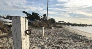 Moorings at the Lavallette bay beach. (Photo: Daniel Nee)