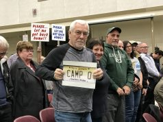 Camp Osborn gets its first hearing on a proposal to rebuild the neighborhood, Feb. 2020. (Photo: Daniel Nee)