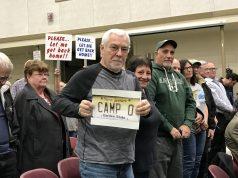 Camp Osborn gets its first hearing on a proposal to rebuild the neighborhood, Feb. 2020. (Photo: Daniel Nee)