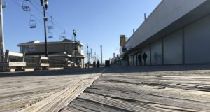 An empty Seaside Heights boardwalk, March 2020. (Photo: Daniel Nee)