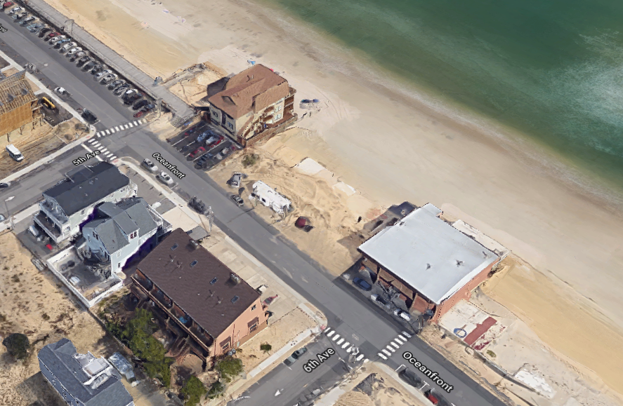 The location where six units will be rebuilt in Ortley Beach following Superstorm Sandy. (Credit: Google Maps)