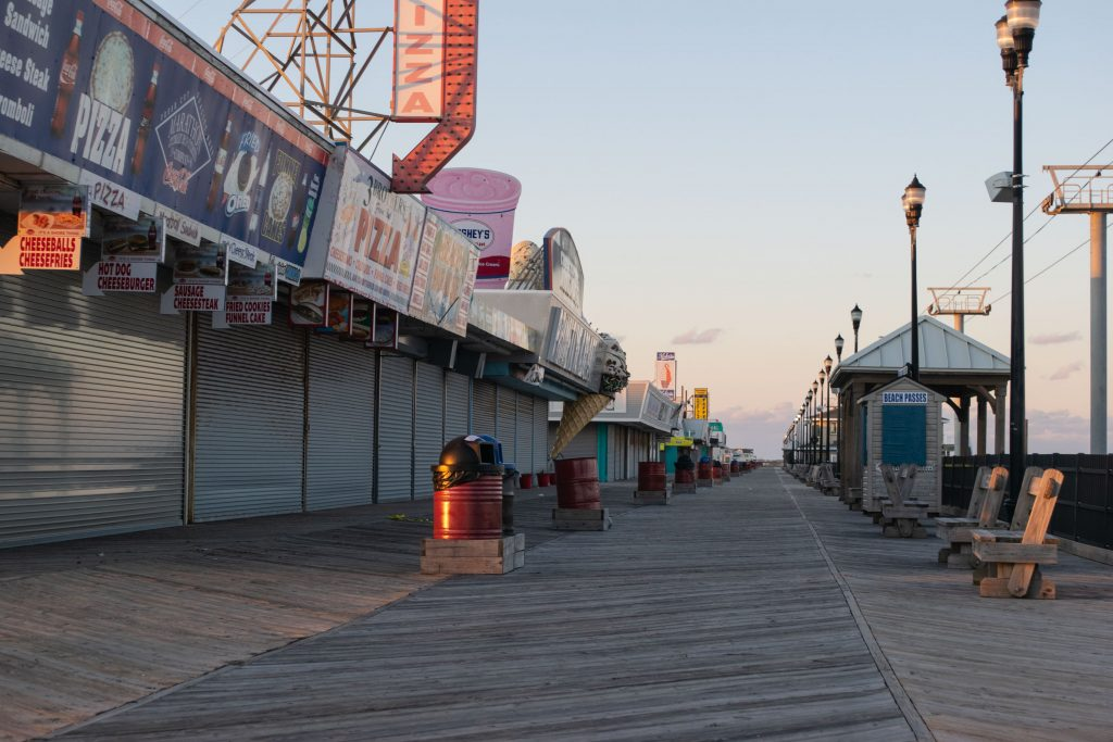 The northern portion of the Seaside Heights boardwalk, March 2019. (Photo: Daniel Nee)
