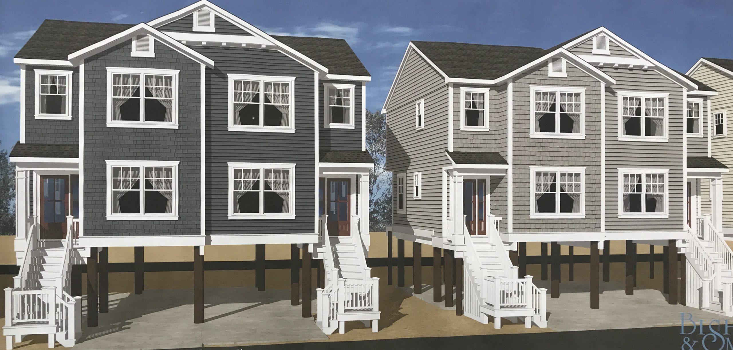 Duplex buildings proposed for Camp Osborn, Feb. 2020. (Photo: Daniel Nee)