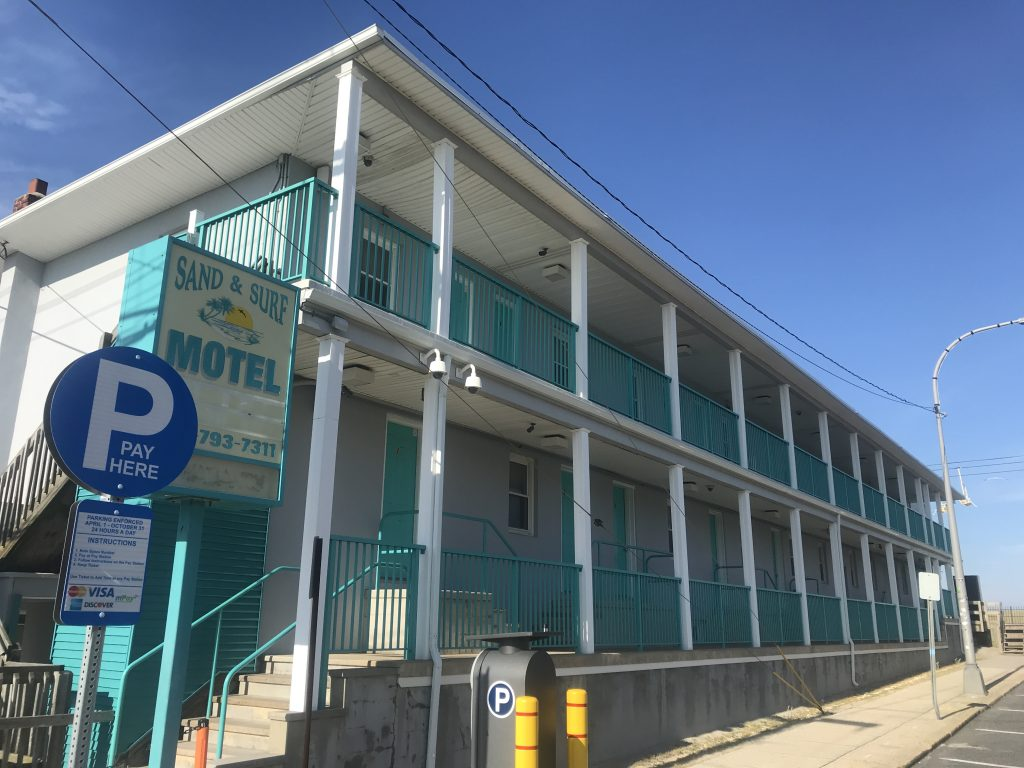 Motels in Seaside Heights, June 2020. (Photo: Daniel Nee)
