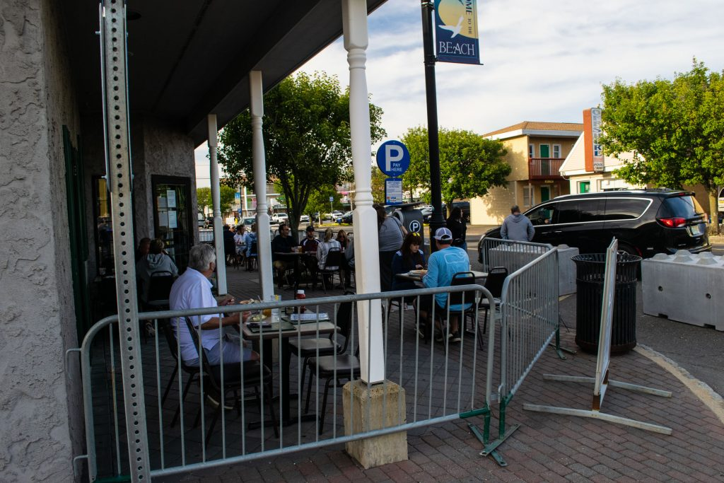 Seaside Heights bars and restaurants open for outdoor dining June 15, 2020. (Photo: Daniel Nee)