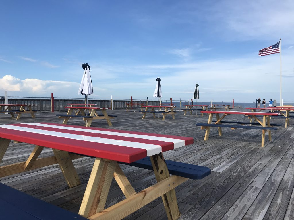 The future site of a beach and pool club at Dupont Avenue in Seaside Heights, July 2020. (Photo: Daniel Nee)