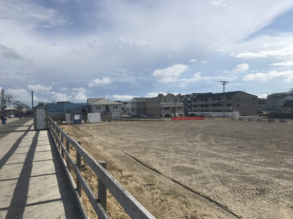 The future home of Seaside Heights' Dentzel-Looff carousel along the boardwalk, July 2020. (Photo: Daniel Nee)