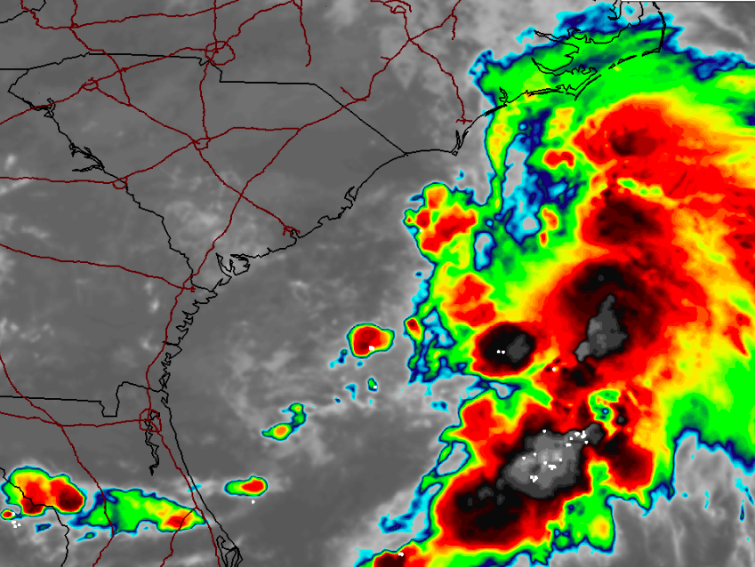 Radar data of a storm that may develop into a tropical system, July 8, 2020. (Credit: NWS)