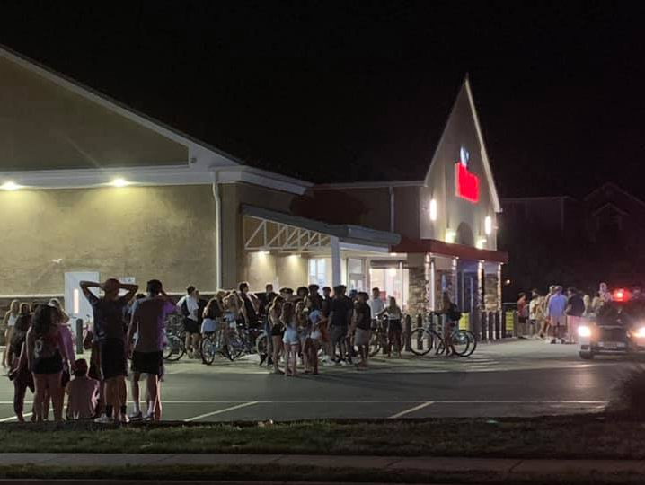 Dozens of teens gather in the North Beaches sections of Toms River over the July 4 weekend. (Facebook Photo)