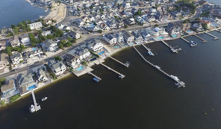 A dock more than 300-feet long is leading to legal action in Lavallette. (Supplied Photo)