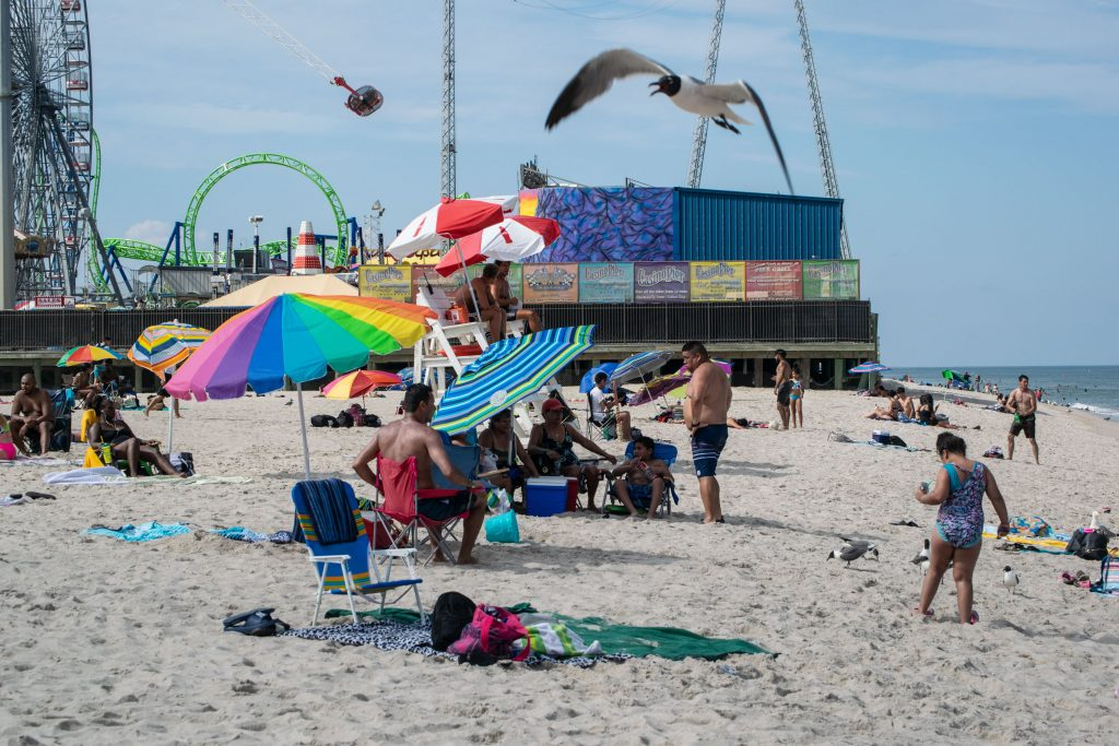 The Seaside Heights beachfront, July 2020. (Photo: Daniel Nee)