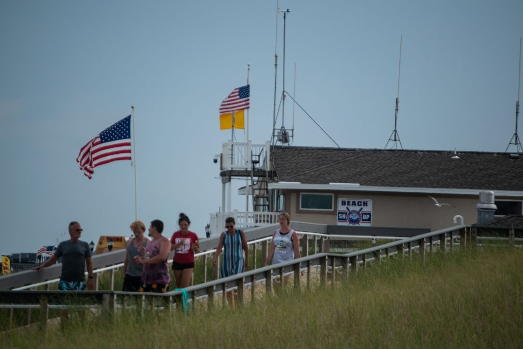 Seaside Heights lifeguard headquarters, July 2020. (Photo: Daniel Nee)