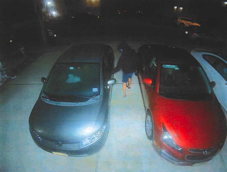 A suspected attempted car burglary in Seaside Park, Aug. 19, 2020. (Photo: Seaside Park Police)