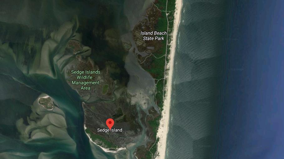Sedge Islands, Island Beach State Park. (Credit: Google Maps)