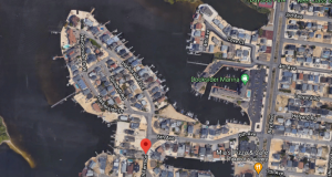 A portion of Ortley Beach where street raisings will take place. (Credit: Google Maps)