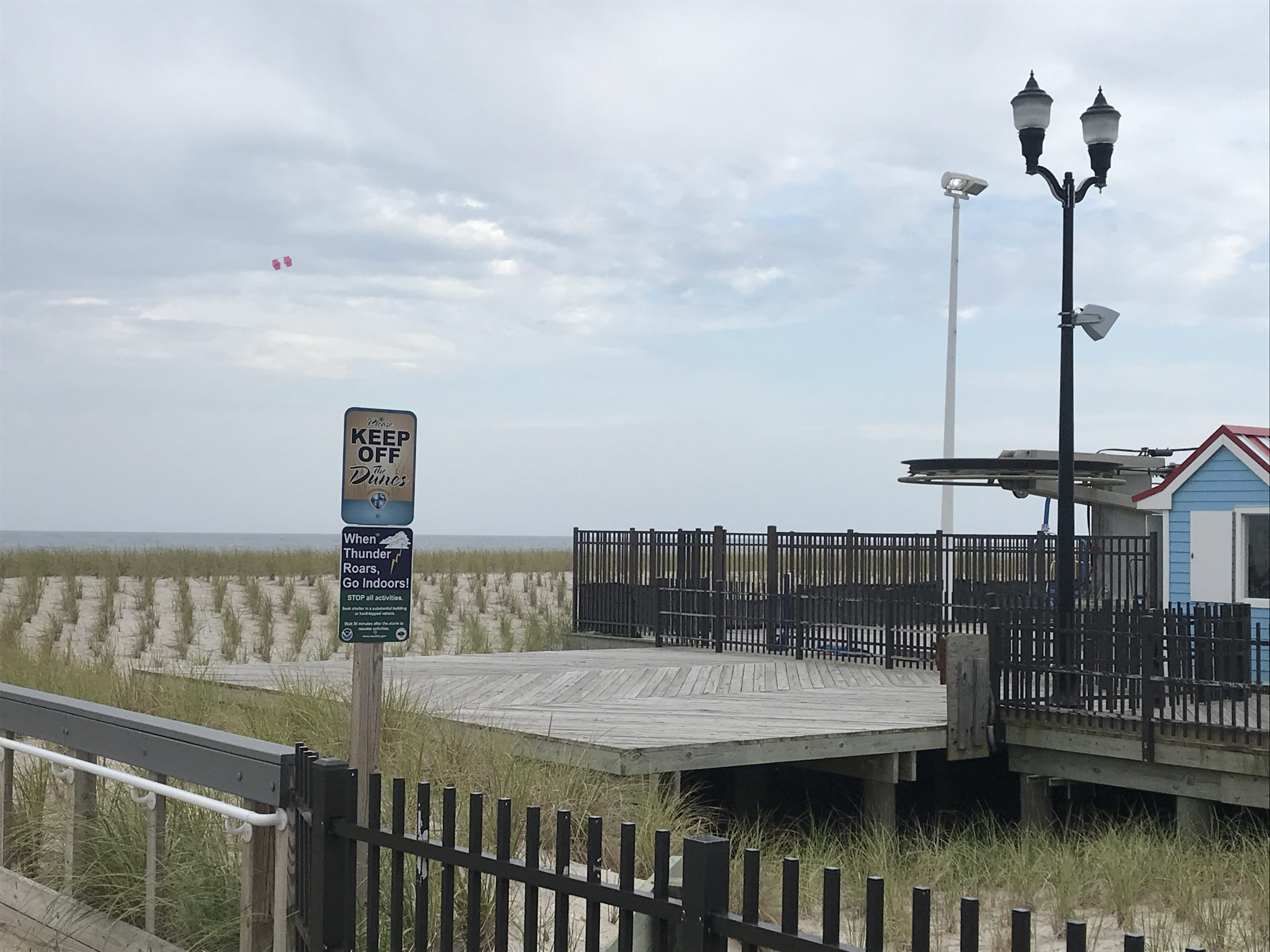 The location of a planned viewing platform on the Seaside Heights boardwalk. (Photo: Daniel Nee)