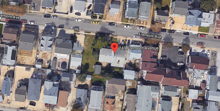 Property on Fremont Avenue in Seaside Heights where new homes are planned. (Credit: Google Maps)