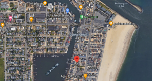 The intended location of a kayak launch in Point Pleasant Beach. (Credit: Google Maps)