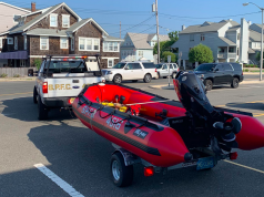 Seaside Park Fire Company utilizes its water rescue equipment, Sept. 14, 2020. (Photo: SSPFC)
