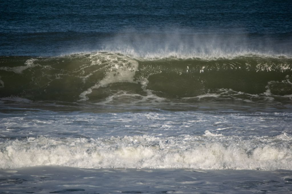 Large waves as Jersey Shore beaches impacted by Hurricane Teddy, Sept. 22, 2020. (Photo: Daniel Nee)