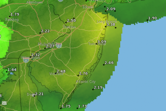 The total rainfall forecast through the end of Monday, Oct. 12, 2020. (Credit: National Weather Service)
