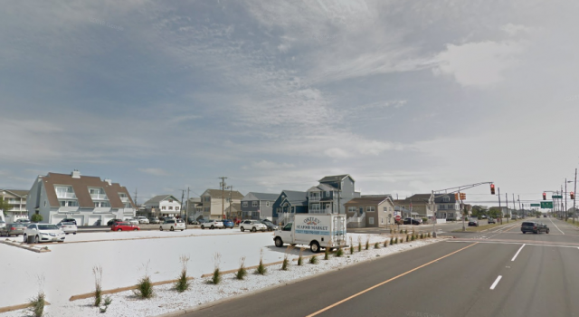 The site of the former Ortley Beach First Aid building. (Credit: Google Maps)