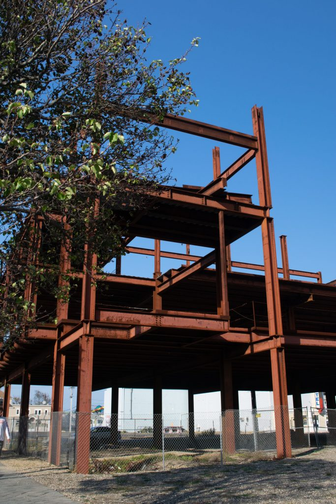 The steel structure on the Boulevard in Seaside Heights, Oct. 2020. (Photo: Daniel Nee)