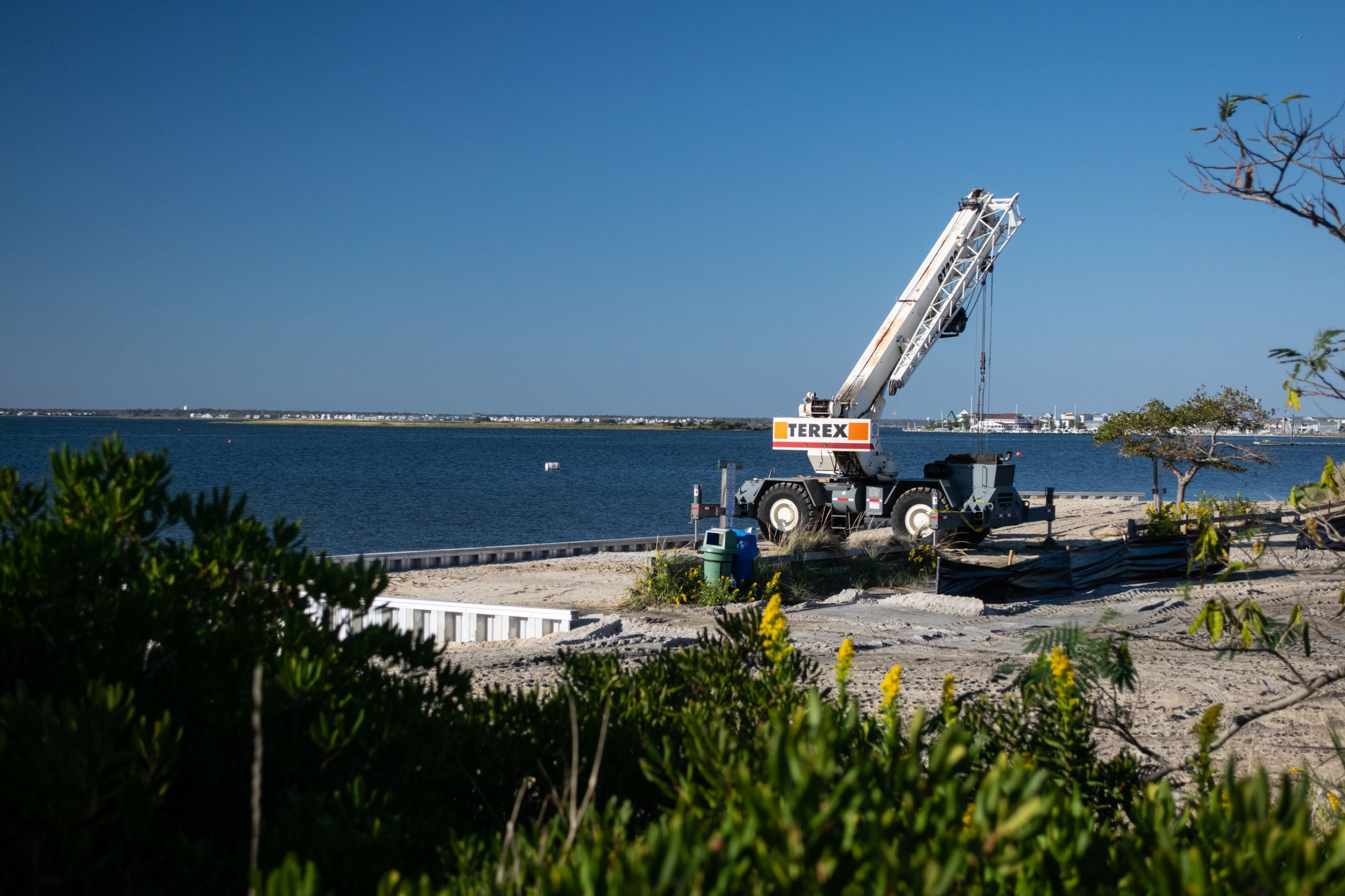 Construction near the Lavallette boat ramp and West Point Island. (Photo: Daniel Nee)