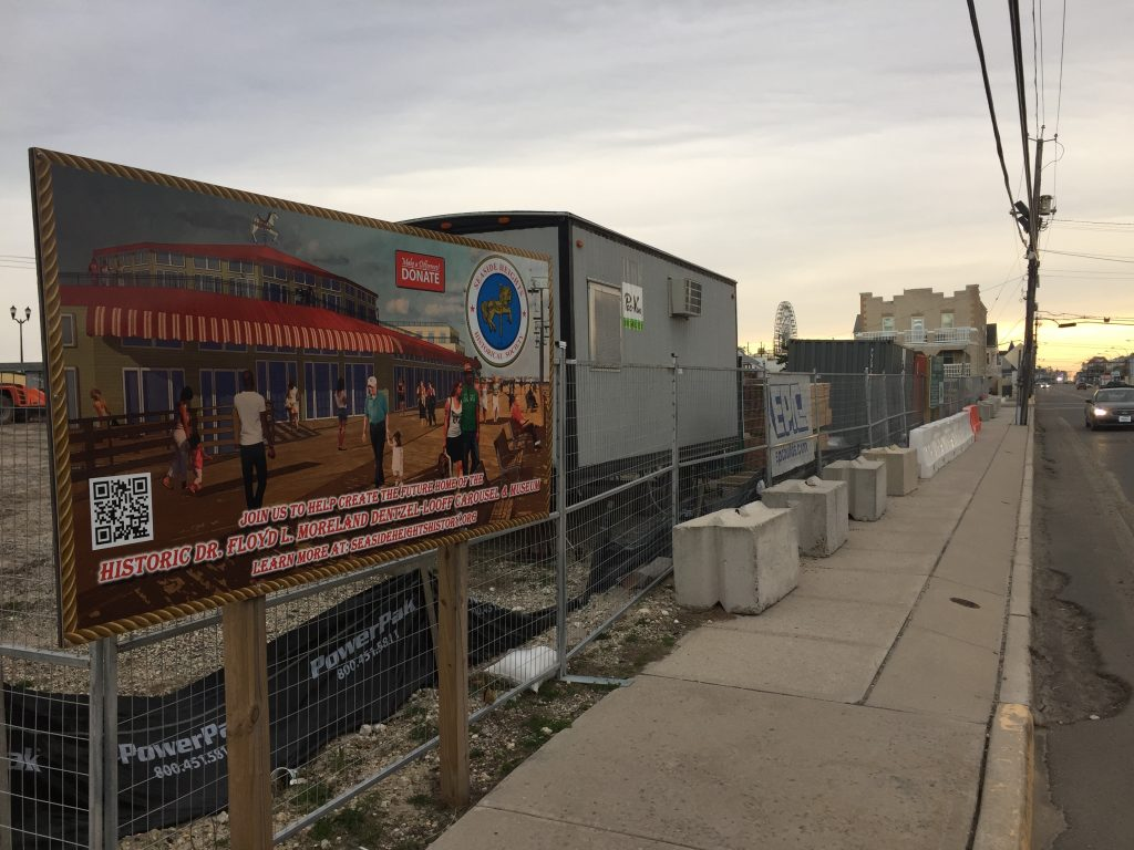 Construction underway at the future home of Seaside Heights' historic carousel, Nov. 2020. (Photo: Daniel Nee)