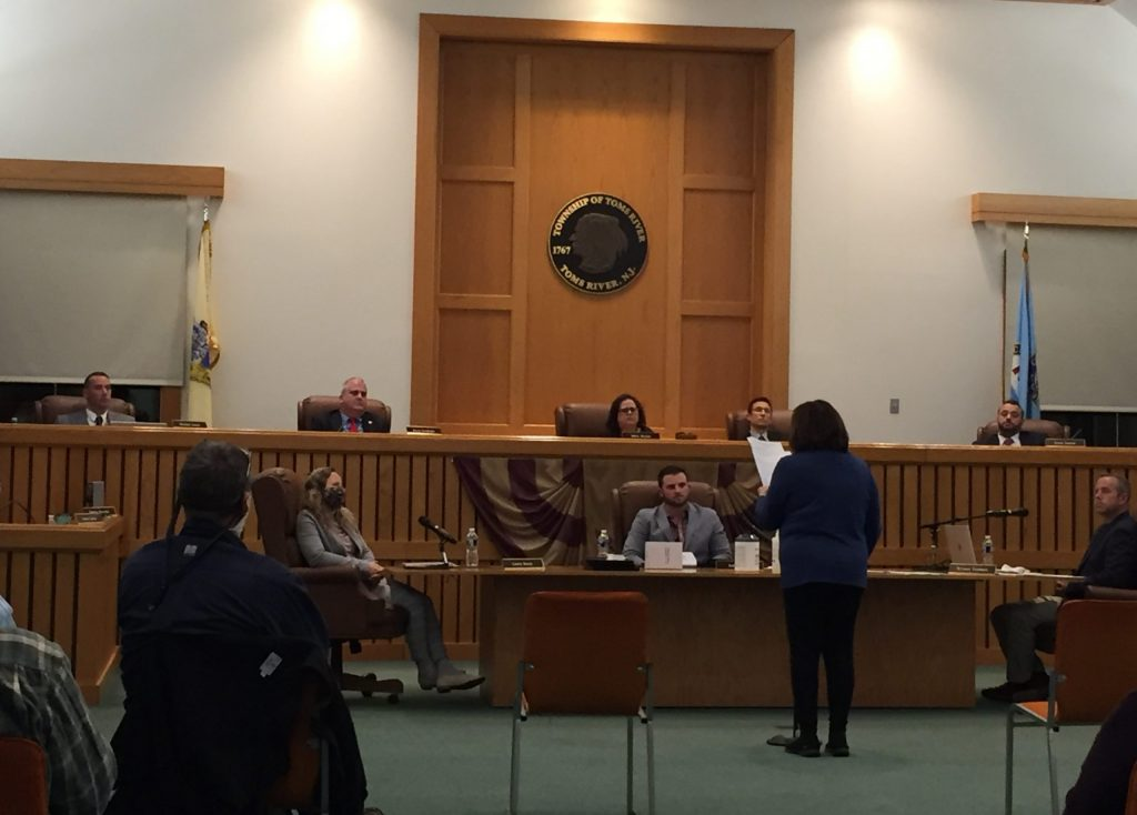 Toms River council members debate the purchase of the Surf Club property, Nov. 25, 2020. (Photo: Daniel Nee)