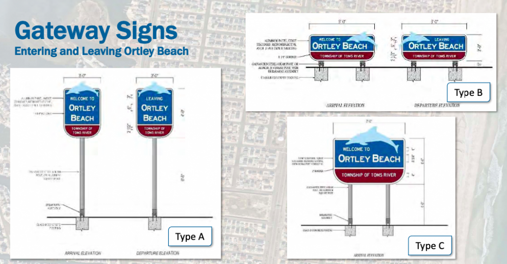 The Ortley Beach streetscape plan. (Credit: Toms River Township)