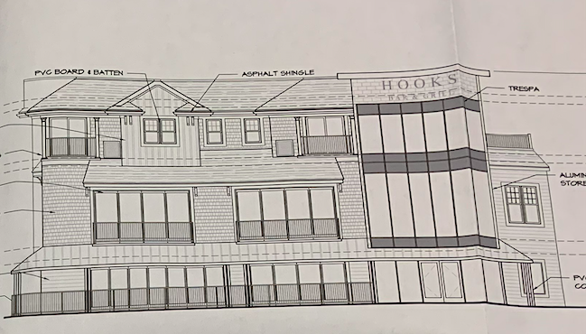 Outline renderings of the proposed complex to replace Captain Hooks Bar, Seaside Heights. (Credit: Borough of Seaside Heights)