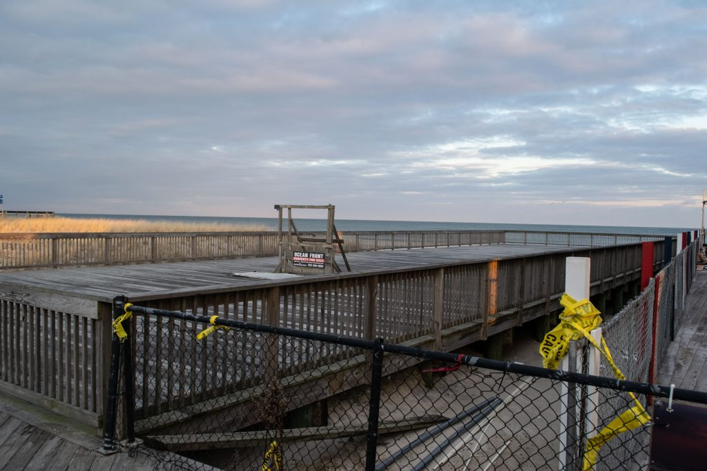 The future location of a new restaurant approved for Dupont Avenue on the Seaside Heights boardwalk, Dec. 2020. (Photo: Daniel Nee)