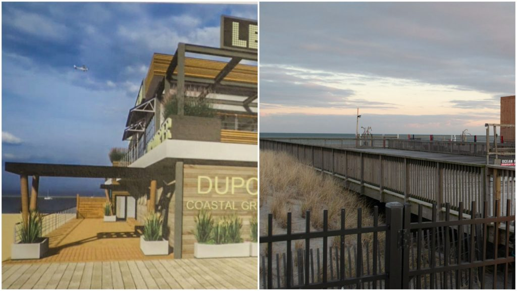 A new restaurant approved for Dupont Avenue on the Seaside Heights boardwalk, Dec. 2020. (Photo: Daniel Nee)