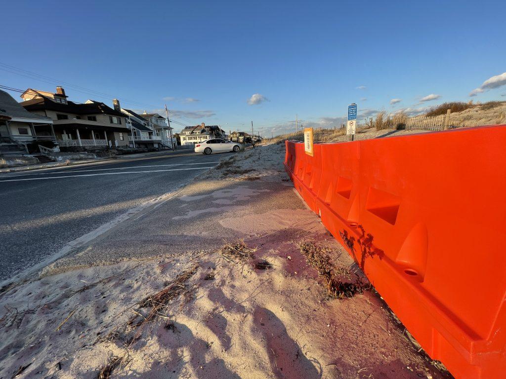 A blocked portion of the Seaside Park boardwalk, Jan. 2021. (Photo: Daniel Nee)