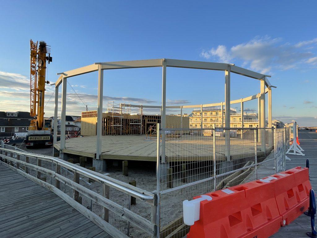 The future home of Seaside Heights' historic carousel, Jan. 2021. (Photo: Daniel Nee)