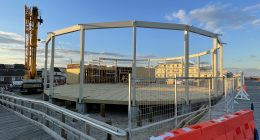 The future home of Seaside Heights' historic carousel, Jan. 2021. (Photo: Daniel Nee)