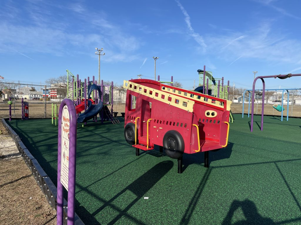 The new playground at Hugh J. Boyd Elementary School in Seaside Heights, March 2021. (Photo: Daniel Nee)