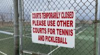 Lavallette's municipal tennis/pickleball courts. (Photo: Daniel Nee)
