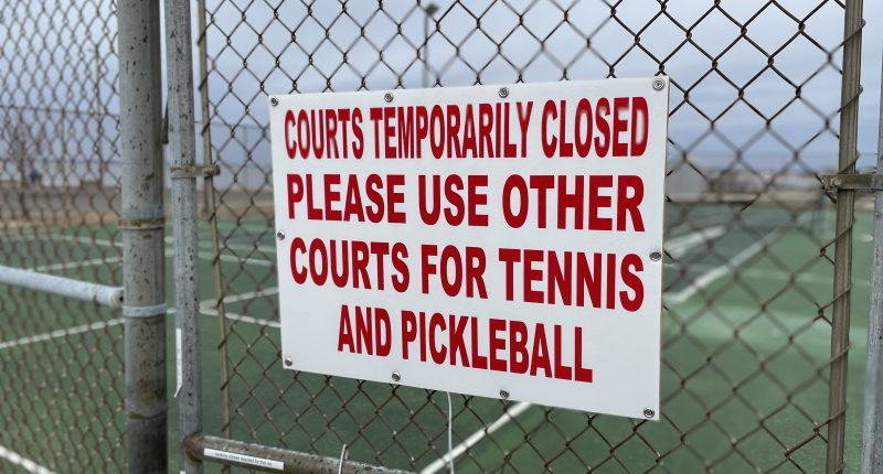 Lavallette's municipal tennis/pickleball courts. (Photo: Daniel Nee)