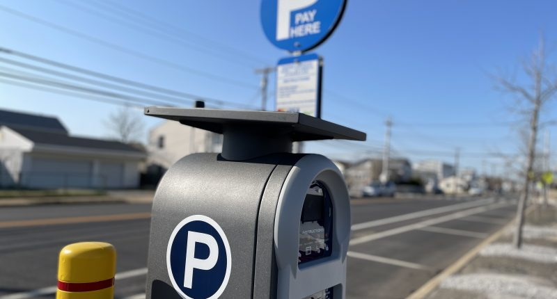 New parking kiosks installed in Seaside Heights, N.J. for the 2021 season. (Photo: Daniel Nee)