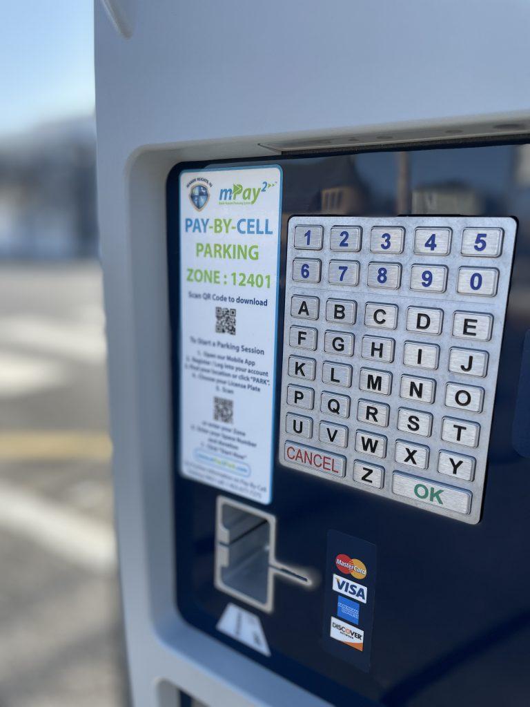 New parking kiosks installed in Seaside Heights, N.J. for the 2021 season. (Photo: Daniel Nee)