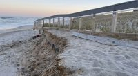 Damage in Ortley Beach left over from the Feb. 1-2, 2021 nor'easter, April 2021. (Photo: Daniel Nee)
