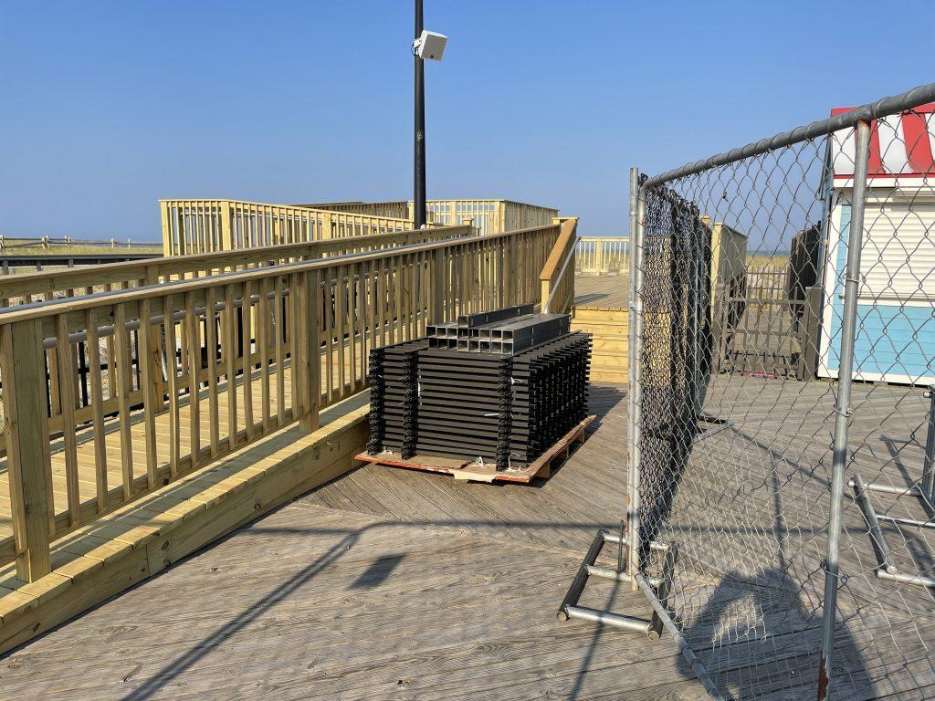 The 'sun deck' viewing platform at Hiering Avenue, Seaside Heights, N.J., May 2021. (Photo: Daniel Nee)