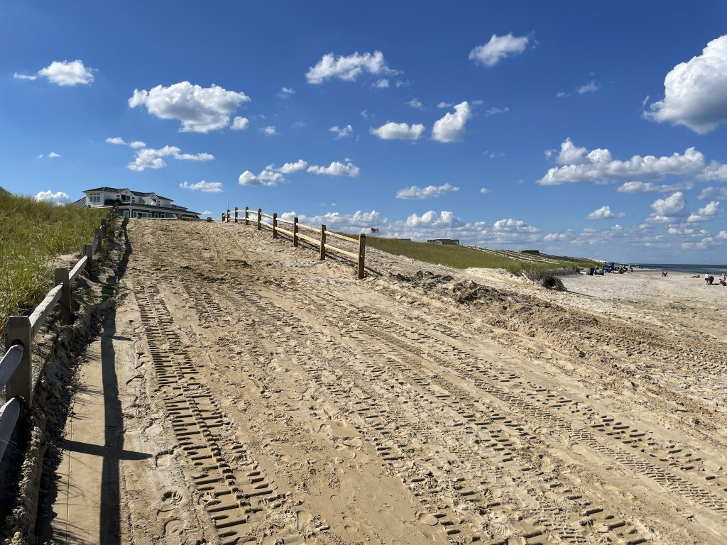 Ortley Beach following repairs, June 2021. (Photo: Daniel Nee)