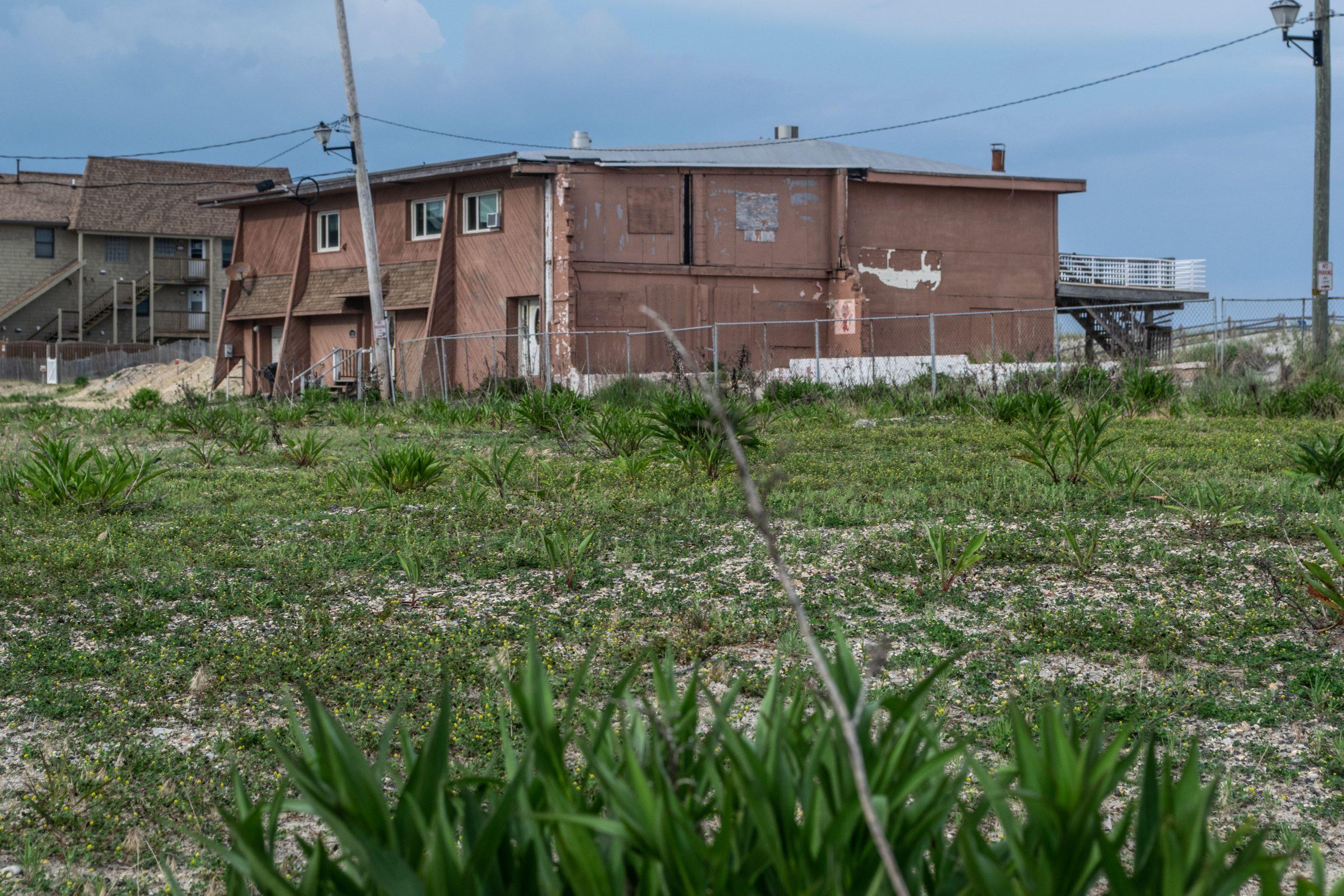 The former Joey Harrison's Surf Club property, Ortley Beach, N.J., June 2021. (Photo: Daniel Nee)